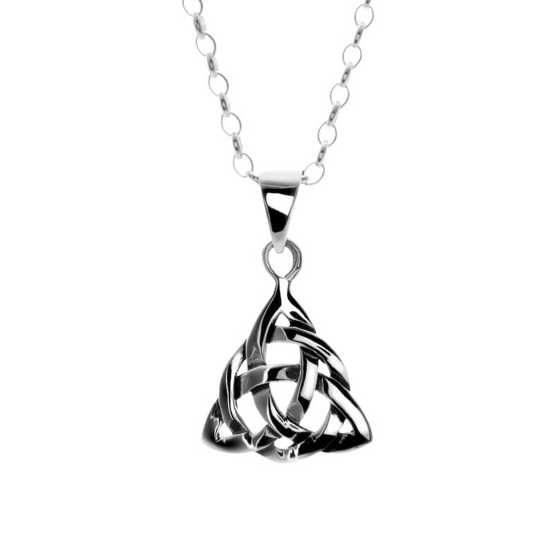Celtic never ending knot silver pendant aloadofball Image collections
