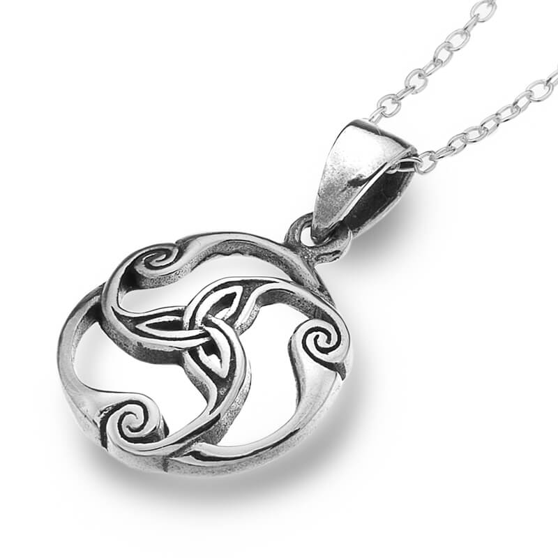 Celtic trinity knot silver pendant aloadofball Image collections