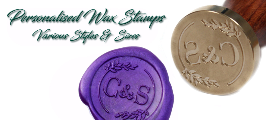 Personalised Wax Seal Stamps perfect for wedding invitations